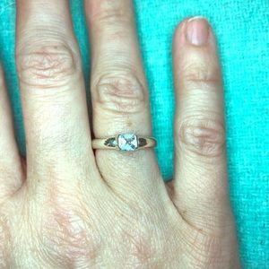 Tiffany Aquamarine silver ring